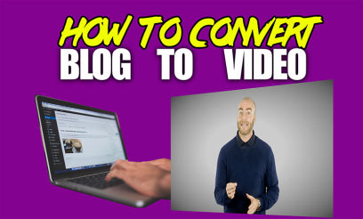 how to convert blog to video